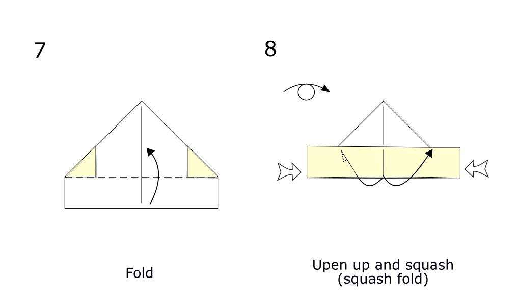 Simple origami boat (diagram S4)