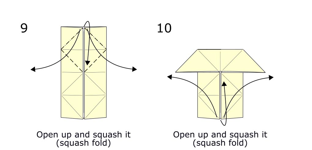Traditional origami butterfly (diagram s5)