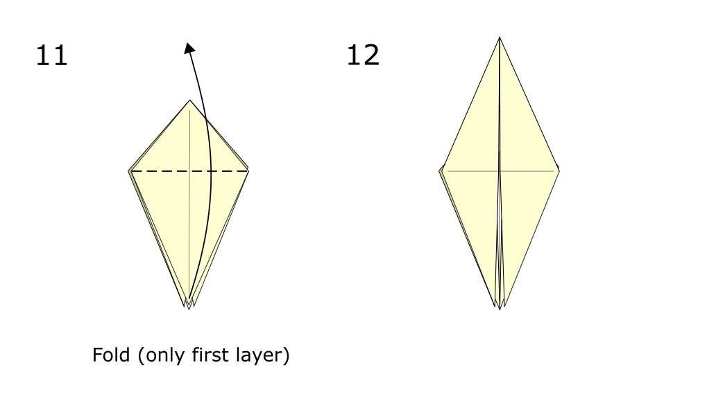 Traditional origami crow (diagram s6)