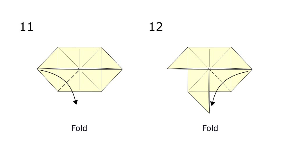 Traditional origami butterfly (diagram s6)