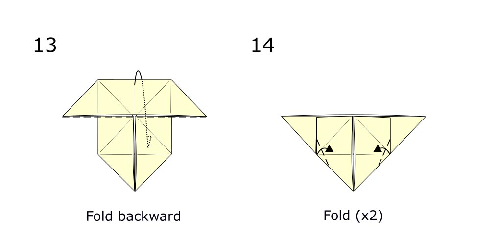 Traditional origami butterfly (diagram s7)