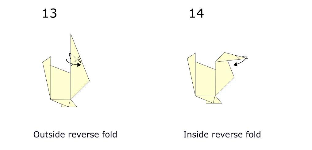 Origami turkey (diagram s7)