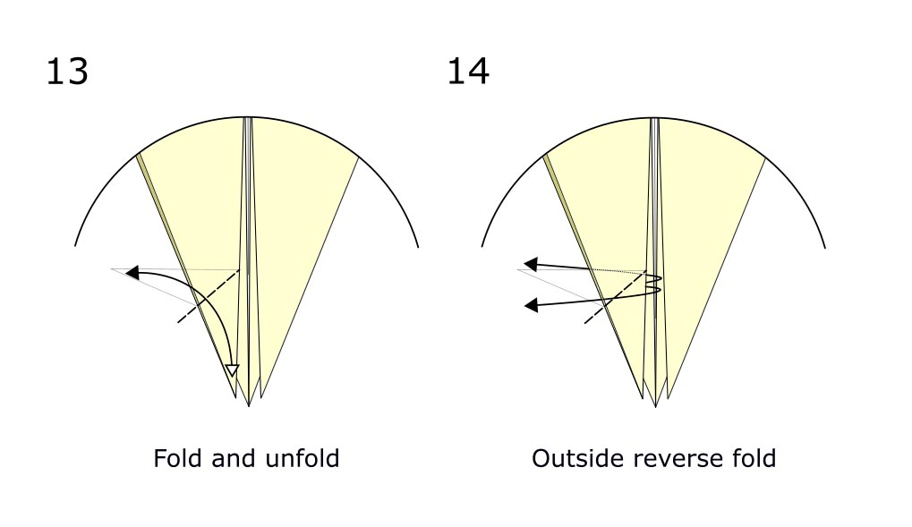 Traditional origami crow (diagram s7)