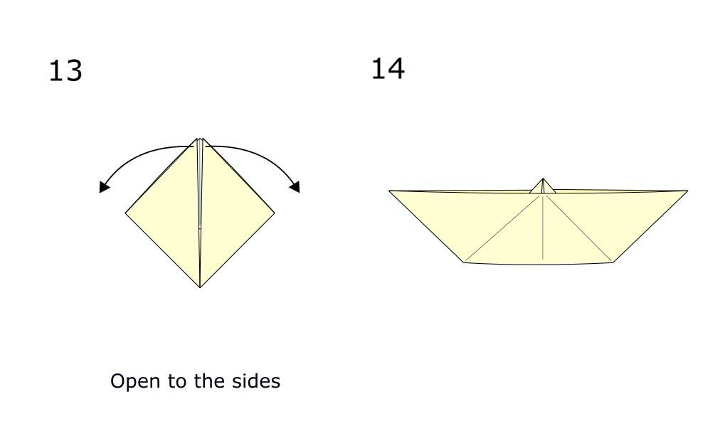 Simple origami boat (diagram S7)