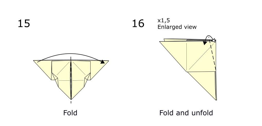 Traditional origami butterfly (diagram s8)