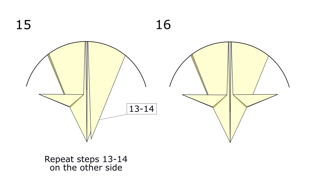 Traditional origami crow (diagram s8)