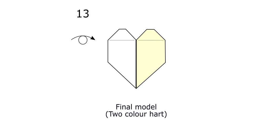 Two colour hart (diagram s8)