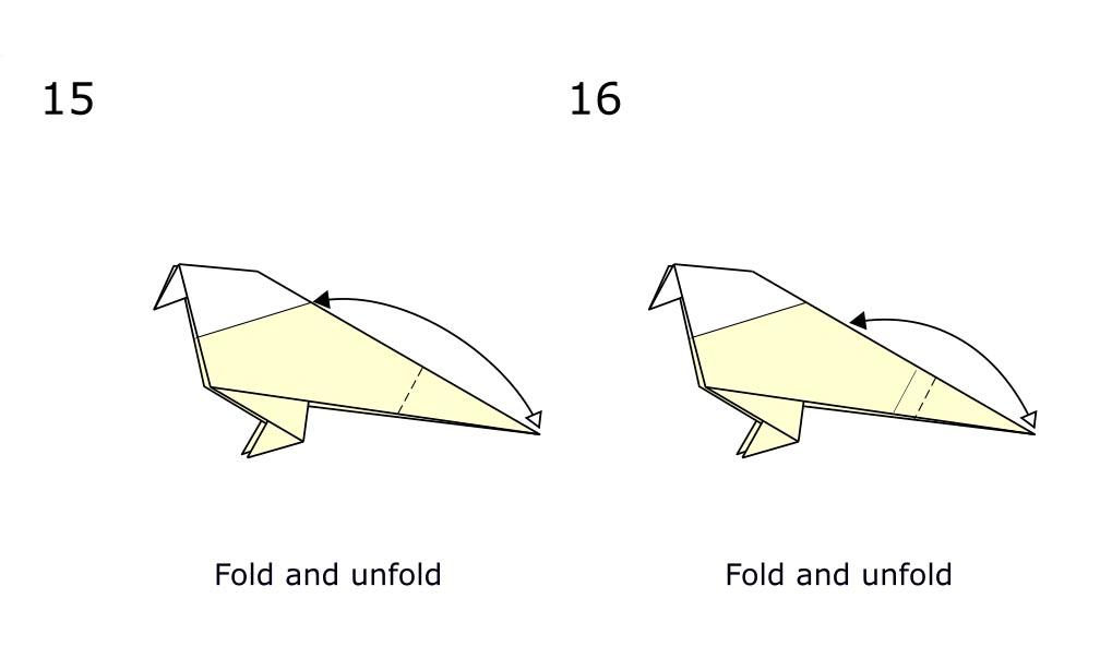 Origami bird (diagram S8)